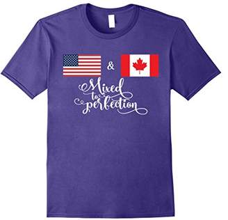American + Canadian Mixed to Perfection Flag T-Shirt