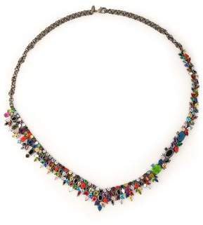 Iosselliani Gunmetal-Tone Crystal And Stone Necklace