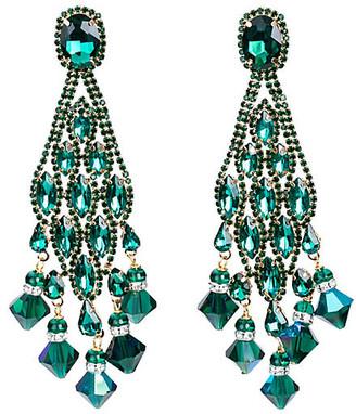 One Kings Lane Vintage Vrba Rhinestone Drop Earrings - Vintage Lux