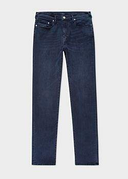Paul Smith Men's Tapered-Fit Navy Over-Dye Stretch-Denim Jeans