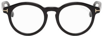 Tom Ford Black Block Round Glasses