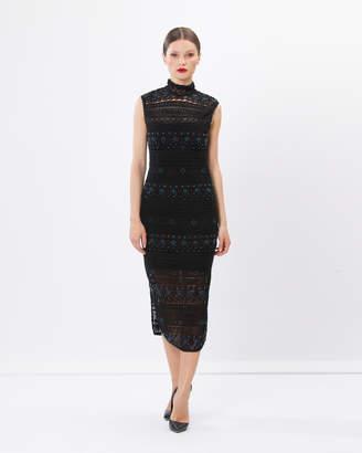 Rihanna Lace Beaded Dress