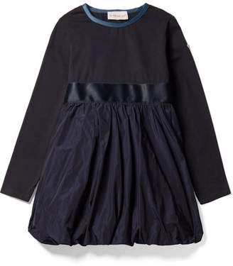 Moncler Ages 4 - 6 Cotton-blend Jersey And Satin-shell Dress
