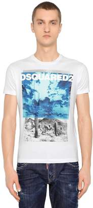 DSQUARED2 Desert Printed Cotton Jersey T-Shirt