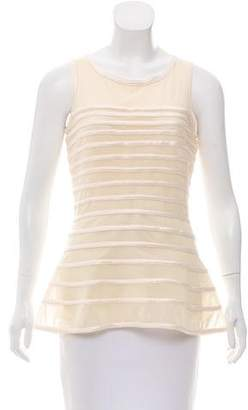 Halston Sleeveless Bodycon Top w/ Tags