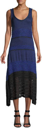 Proenza Schouler Scoop-Neck Sleeveless Open-Knit Dress
