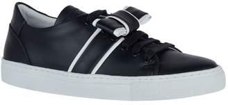 Claudie Pierlot Leather Bow Arimbo Sneakers
