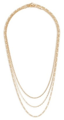 Topman Mens Metallic Gold Layered Necklace*