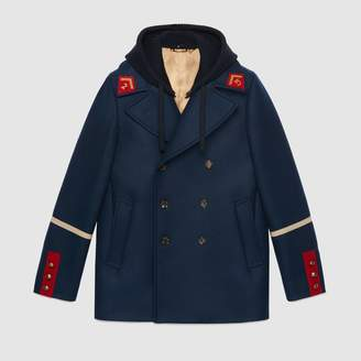 Gucci Embroidered felt coat