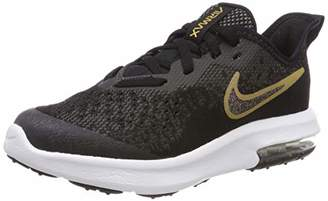 Nike Girls Air Max Sequent 4 Sh (ps) Fitness Shoes, Multicolour (Black Metallic Gold/White 001), 11UK Child