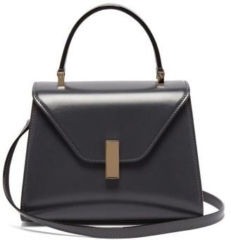Valextra - Iside Mini Leather Bag - Womens - Dark Grey