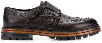 Santoni platform monk shoes