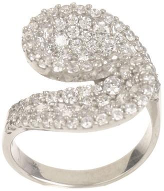 Diamonique 1.50 cttw Pave' Wrap Ring, Sterling