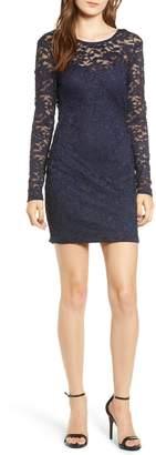 Speechless Illusion Lace Sheath Dress