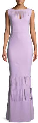 Chiara Boni Renza Sleeveless Gown w/ Slit Details
