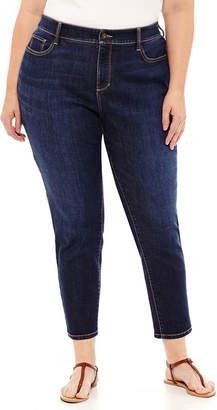 ST. JOHN'S BAY Secretly Slender Skinny Ankle Jean - Plus