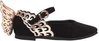 Sophia Webster Evangeline Mini Suede Ballerina Shoes
