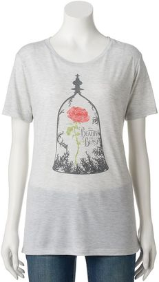 Disney's Beauty and the Beast Juniors' Enchanted Rose Graphic Tee $20 thestylecure.com