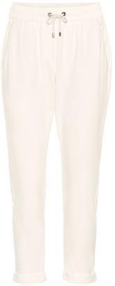 Brunello Cucinelli Cotton-blend cropped pants