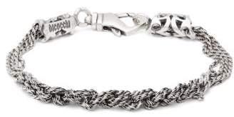 Emanuele Bicocchi Multi Knot Chain Bracelet - Mens - Silver