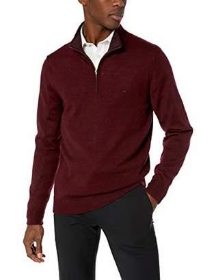 Calvin Klein Men's Merino 1/4 Zip Sweater
