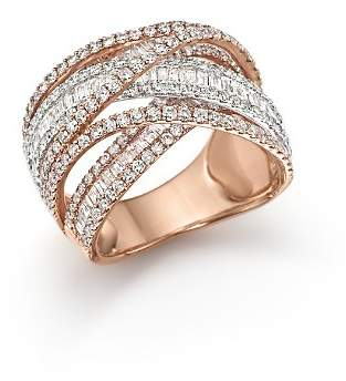 Bloomingdale's Diamond Crossover Ring in 14K White and Rose Gold, 2.70 ct. t.w. - 100% Exclusive