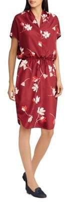Lauren Ralph Lauren Floral Drawstring Dress