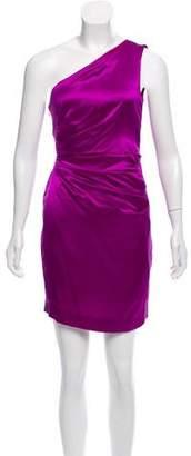 Philosophy di Alberta Ferretti One Shoulder Silk Mini Dress