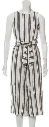 Alice + Olivia Striped Cropped Jumpsuit