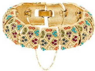 Susan Caplan Vintage 1980s Vintage D'Orlan Colourful Bracelet