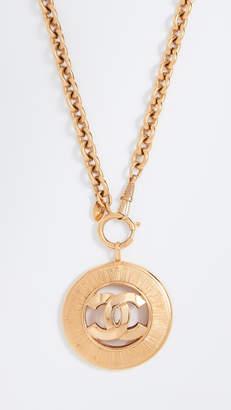 Chanel What Goes Around Comes Around CC Sunburst Necklace
