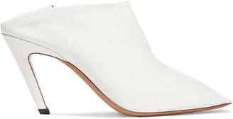 Glossed-leather Ankle Boots - White