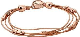Fossil Tan Multi-Strand Wrist Wrap Women's Bracelet