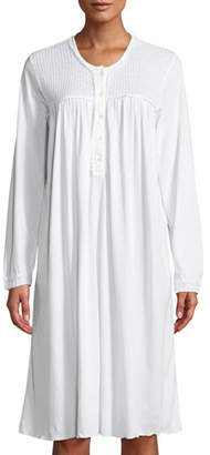 P Jamas Angele Long-Sleeve Nightgown