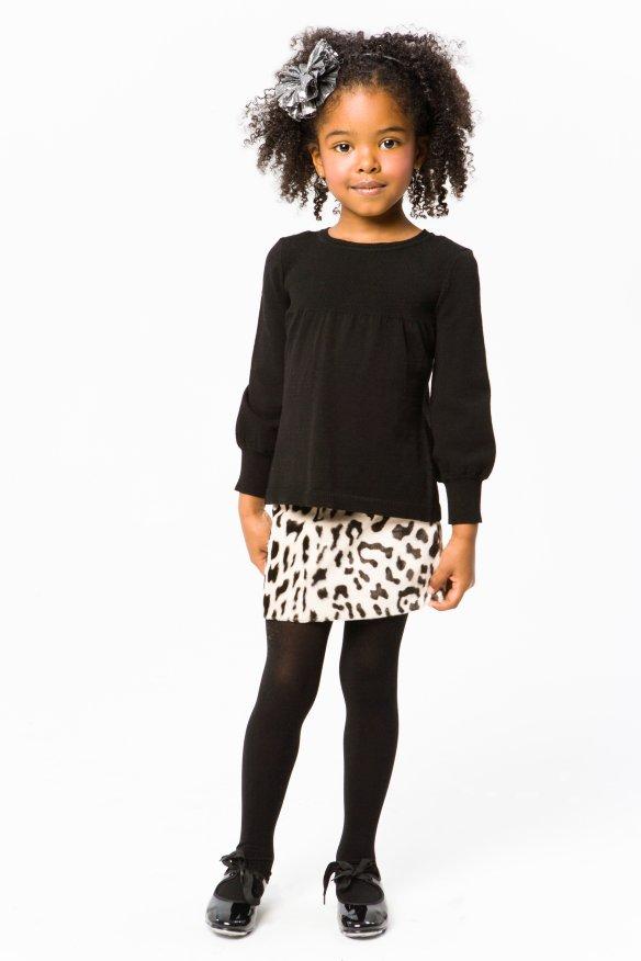 Milly Minis Girls Black Tops - Smocked Top