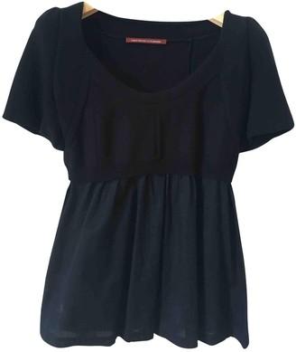 Comptoir des Cotonniers Black Cotton Top for Women