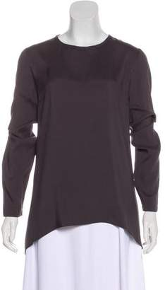 Brunello Cucinelli Scoop Neck Long Sleeve Top