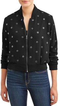 Lea & Viola Women's Black Bomber Jacket