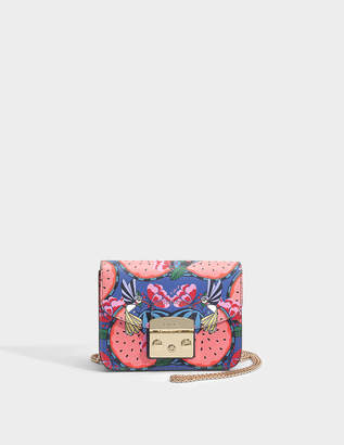 Furla Metropolis Mini Crossbody Bag in Rosa Quarzo Ares Leather