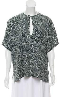 Christian Wijnants Silk Short Sleeve Top