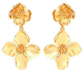 Oscar de la Renta Floral clip-on earrings