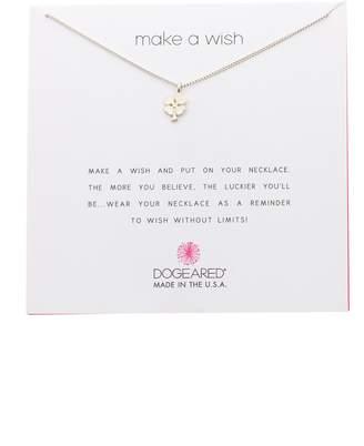 Dogeared Sterling Silver Make a Wish Shamrock Pendant Necklace