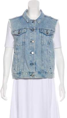 Rag & Bone Denim Button-Up Vest