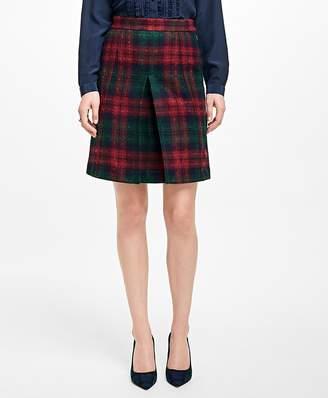 Tartan Wool Skirt $138 thestylecure.com