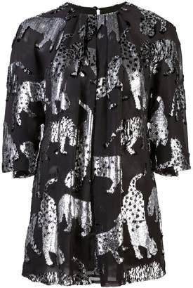 Carolina Herrera animal blouse