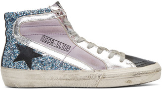 Golden Goose Multicolor Slide High-Top Sneakers $495 thestylecure.com
