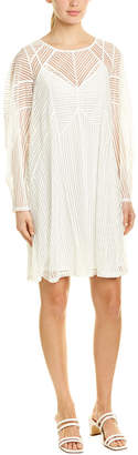 BCBGMAXAZRIA Mesh Stripe Shift Dress