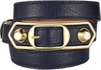 Balenciaga Women's Metallic Edge Wrap Bracelet