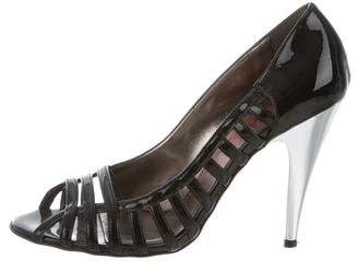 KORS Patent Leather Cage Pumps