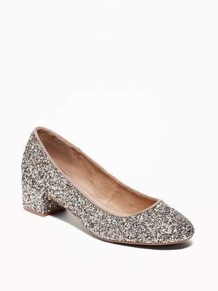 Old Navy Glitter Block Heels for Women